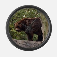 Grizzly Bear Large Wall Clock