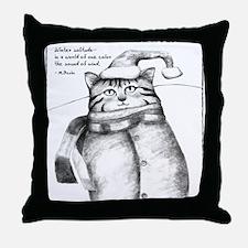 Holiday Haiku Cat Throw Pillow