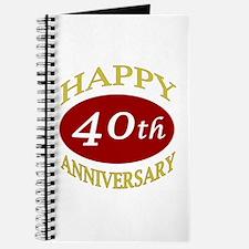 Happy 40th Anniversary Journal