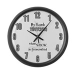 Thumb Twitches Large Wall Clock