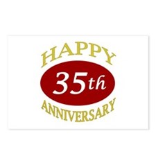 Happy 35th Anniversary Postcards (Package of 8)