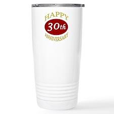 Happy 30th Anniversary Travel Mug