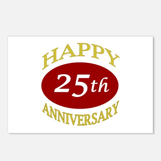 Happy 25th Anniversary Postcards (Package of 8)