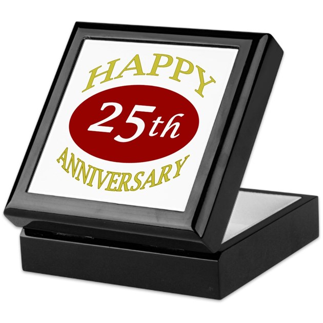 Happy 25th anniversary keepsake box by thepixelgarden - Color of th anniversary ...