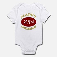 Happy 25th Anniversary Infant Bodysuit