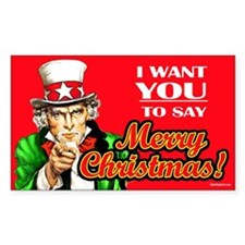 Uncle Sam - I Want You to say Rectangle Decal