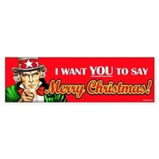 Uncle Sam - I Want You to say Bumper Bumper Sticker