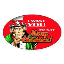 Uncle Sam - I Want You to say Oval Decal