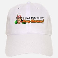 Uncle Sam - I Want You to say Baseball Baseball Cap
