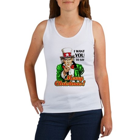 Uncle Sam - I Want You to say Women's Tank Top