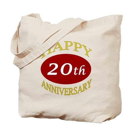 Happy 20th Anniversary Tote Bag