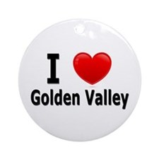I Love Golden Valley Ornament (Round)
