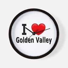 I Love Golden Valley Wall Clock