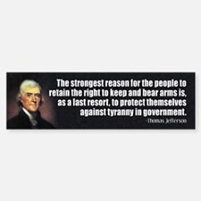 JEFFERSON: 2nd Amendment Bumper Bumper Bumper Sticker