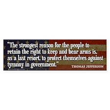JEFFERSON: 2nd Amendment Bumper Sticker (10 pk)