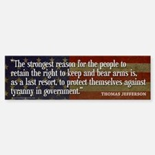 JEFFERSON: 2nd Amendment Bumper Car Car Sticker