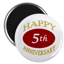 """Happy 5th Anniversary 2.25"""" Magnet (10 pack)"""