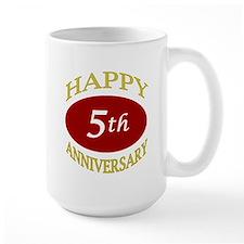 Happy 5th Anniversary Ceramic Mugs