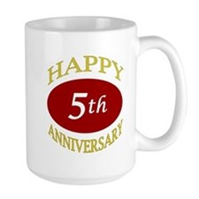 Happy 5th Anniversary Mug