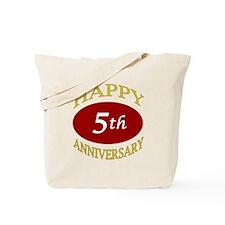 Happy 5th Anniversary Tote Bag