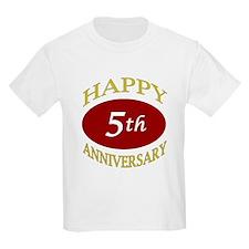 Happy 5th Anniversary T-Shirt