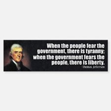 Jefferson: Liberty vs. Tyranny Bumper Bumper Sticker