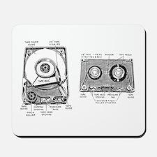 8 Track Cassette Anatomy Mousepad