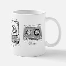 8 Track Cassette Anatomy Mug