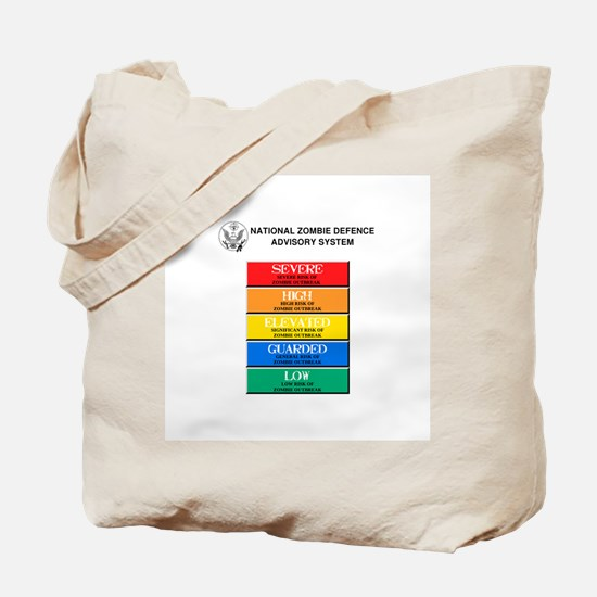 """""""Zombie Threat Level"""" Tote Bag"""