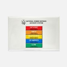 """Zombie Threat Level"" Rectangle Magnet"
