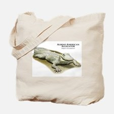 Albino American Alligator Tote Bag
