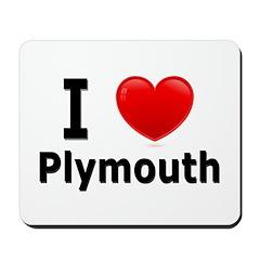I Love Plymouth Mousepad