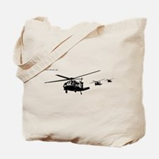 Helicopters (Black) Tote Bag