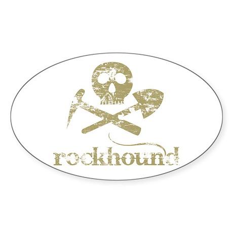 Rockhound Oval Sticker