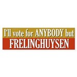 Anybody But Frelinghuysen bumper sticker