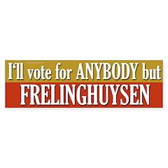 Anybody But Frelinghuysen bumper sticker