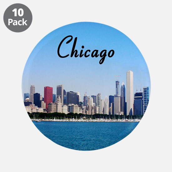 """Chicago 3.5"""" Button (10 pack)"""