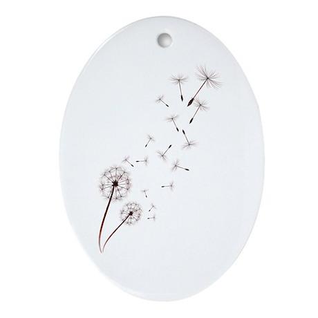 Dandelions Oval Ornament