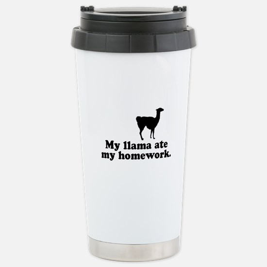 Funny Llama Stainless Steel Travel Mug