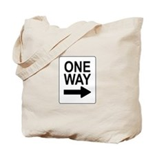 One Way 2 Sign Tote Bag