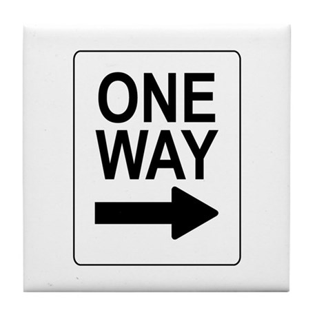 One Way 2 Sign Tile Coaster