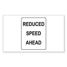 Reduced Speed Ahead Sign Rectangle Decal