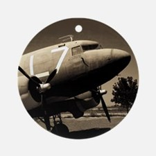 C-47 Sepia Ornament (Round)