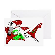Shark Dive Greeting Card