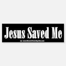 Jesus Saved Me Bumper Bumper Bumper Sticker