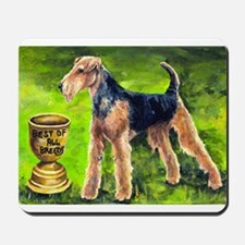Airedale terrier Mousepad