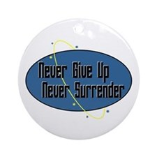 Never Surrender Ornament (Round)