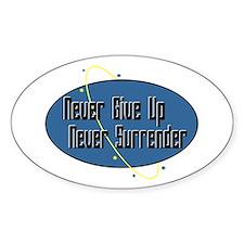 Never Surrender Oval Bumper Stickers