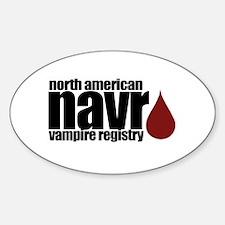 North American Vampire Registry Sticker (Oval)