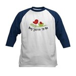 birdie big sister to be christmas shirt Kids Baseb